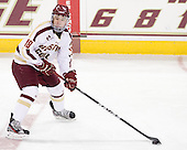 Michael Sit (BC - 18) - The Boston College Eagles defeated the Merrimack College Warriors 4-2 to give Head Coach Jerry York his 900th collegiate win on Friday, February 17, 2012, at Kelley Rink at Conte Forum in Chestnut Hill, Massachusetts.