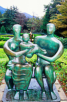 """Family Group"" by Henry Moore, Hakone Open-Air Museum, Hakone, Japan"