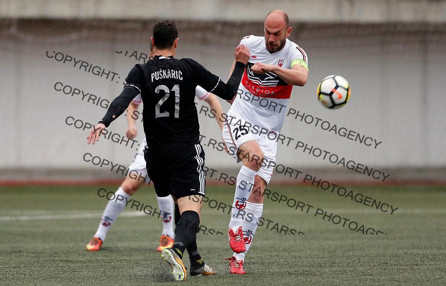 Darko Puskaric Milos Pavlovic Vozdovac - Cukaricki super liga Srbije 5.4.1018. April 5. 2018. (credit image & photo: Pedja Milosavljevic / STARSPORT)