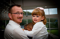 Pictured: Darcy-May Elm (R) with dad Daniel (L)<br /> Re: Inquest to be held in Milford Haven Coroner's Court, into the death of four-year-old Darcy-May Elm who was killed in a two-car crash on the A40, west of Carmarthen, Wales on the 27th of October 2018.<br /> Dyfed-Powys Police had to shut the road for seven hours to investigate the crash, which involved a blue Nissan Micra and a black Skoda Fabia.<br /> The family from Swanage, Dorset were on their way for a family break.<br /> Daniel and Dani, Darcy-May's parents had to stay in hospital.