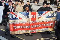 "26.11.2016 - ""UK Veterans - One Voice"" Demonstration in Whitehall"