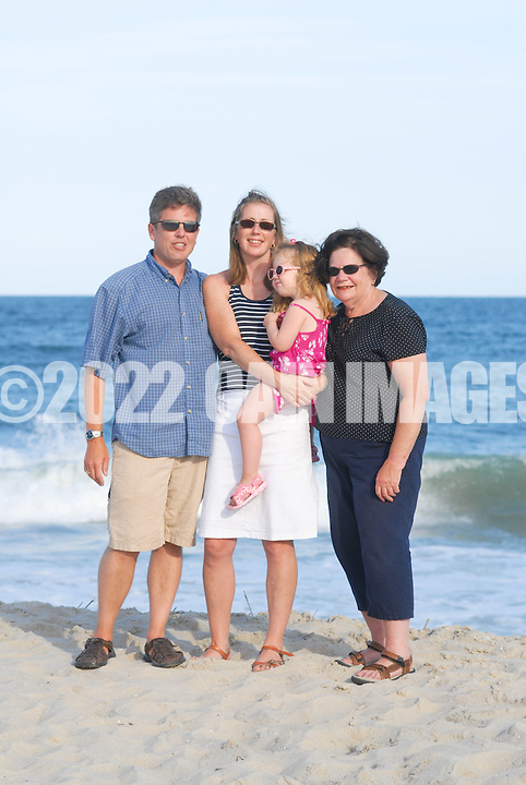CAPE MAY, NJ - JULY 11: The Gillespie family is photographed July 11, 2012 on the beach in Cape May, New Jersey. (Photo by William Thomas Cain/Cain Images)