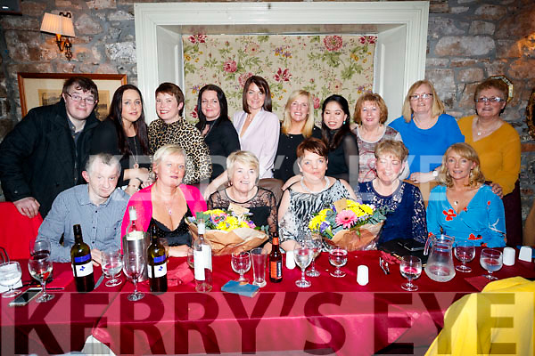 Brenda O'Connor and Margaret Breen, who celebrated their retirement party from IT Tralee, with their colleagues, at Cassidy's restaurant, Tralee on Friday night last, front l-r: John Byrne, June McAuley, Margaret Breen, Brenda O'Connor, Joan Walsh and Kay Cronin. Back l-r: Paudie Riordan, Ger Lynch, Imelda Mullane, Theresa Nolan, Stella Fealey Sheila Kelly, Claire O'Connor, Margaret O'Connor, Patsy Stone and Mary Greensmyth.