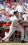 17 June 2006: Alex Rodriguez, third baseman for the New York Yankees, in action against the Washington Nationals at RFK Stadium, in Washington, DC. The Nationals overcame a seven run deficit to win 11-9 in the second game of the interleague series...Mandatory Photo Credit: Ed Wolfstein Photo...