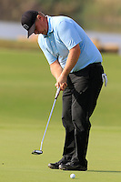 Ross Mcgowan (ENG) putts on the 14th green during Thursday's Round 1 of the 2016 Portugal Masters held at the Oceanico Victoria Golf Course, Vilamoura, Algarve, Portugal. 19th October 2016.<br /> Picture: Eoin Clarke | Golffile<br /> <br /> <br /> All photos usage must carry mandatory copyright credit (&copy; Golffile | Eoin Clarke)
