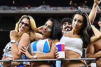 Argentina team fans before Copa America Centenario semifinal match, Tuesday, June 21, 2016 in Houston, Tex. (TFV Media via AP) *Mandatory Credit*