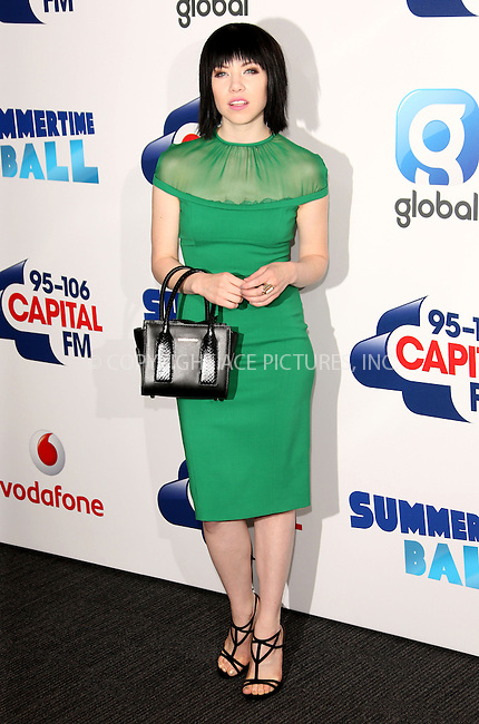 WWW.ACEPIXS.COM<br /> <br /> June 6 2015, London<br /> <br /> Carly Rae Jepsen at the Capital FM Summertime Ball on June 6 2015 in London<br /> <br /> By Line: Famous/ACE Pictures<br /> <br /> <br /> ACE Pictures, Inc.<br /> tel: 646 769 0430<br /> Email: info@acepixs.com<br /> www.acepixs.com