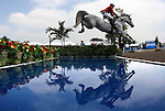 GUADALAJARA, MEXICO - OCTOBER 27:  Matias Albarracin of Argentina competes during the Equestrian Show Jumping Competition on Day Thirteen of the XVI Pan American Games on October 27, 2011 in Guadalajara, Mexico.  (Photo by Donald Miralle for Mexsport) *** Local Caption ***