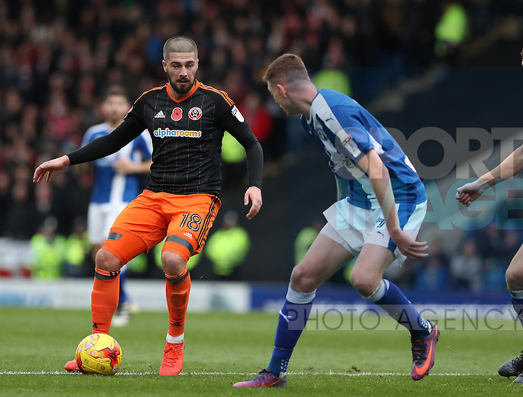 Kieron Freeman of Sheffield Utd during the English Football League One match at Proact Stadium, Chesterfield. Picture date: November 13th, 2016. Pic Jamie Tyerman/Sportimage