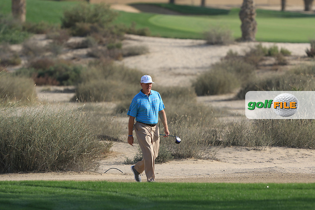 Ernie Els (USA) on the 16th during Round 4 of the Omega Dubai Desert Classic, Emirates Golf Club, Dubai,  United Arab Emirates. 27/01/2019<br /> Picture: Golffile | Thos Caffrey<br /> <br /> <br /> All photo usage must carry mandatory copyright credit (&copy; Golffile | Thos Caffrey)