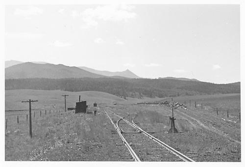 MT passing track at Divide.<br /> Midland Terminal  Divide, CO