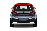 Straight rear view of a 2020 KIA Soul  X-Line 5 Door Hatchback stock images
