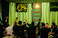 Shia people remember the martyr of their Imam Hussein by performing chest beating or self flagellation during Ashura, a period of 10 days at the beginning of the muslim month of muharram