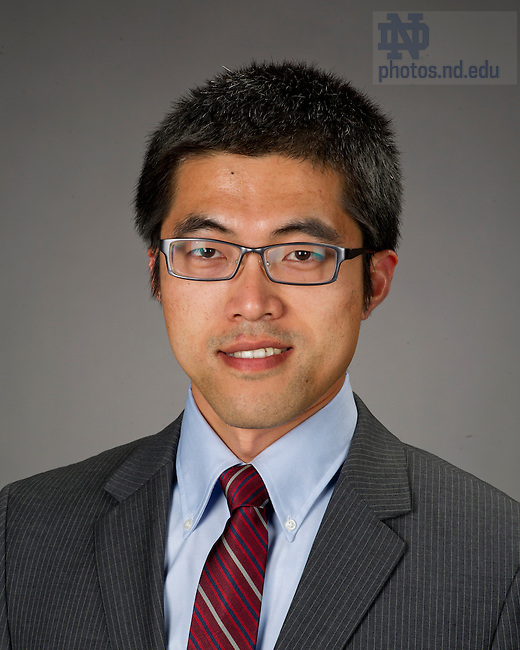 Aug, 9, 2013; Kaifeng Jiang, new faculty. Photo by Barbara Johnston/University of Notre Dame