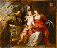 The Holy Family with Saints Francis and Anne and the Infant Saint John the Baptist<br /> <br /> Published early or mid-1630s