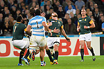 ENG - London, England, October 30: During the bronze medal match between South Africa (green/gold) and Argentina (blue/white) on October 30, 2015 at The Stadium, Queen Elizabeth Olympic Park in London, England. Final score 24-13 (HT 16-0). (Photo by Dirk Markgraf / www.265-images.com) *** Local caption *** (L-R) Tendai Mtawarira #1 of South Africa, Eben Etzebeth #4 of South Africa, Marcos Ayerza #1 of Argentina, Duane Vermeulen #8 of South Africa, Ruan Pienaar #9 of South Africa