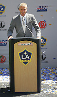 David Beckham at his LA Galaxy press conference at the Home Depot Center in Carson, California, Friday, July 13, 2007.