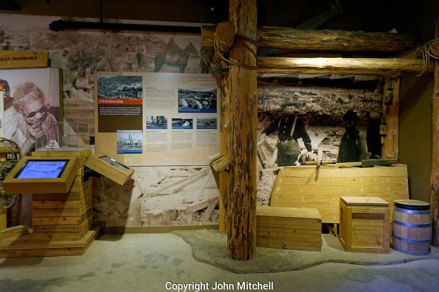 Exhibits in the Klondike Gold Rush National Historical Park Visitor Center, Pioneer Square district, Seattle, Washington, USA