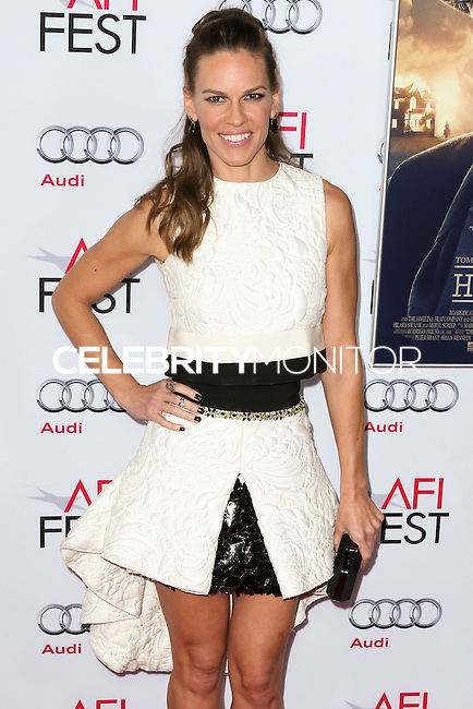 HOLLYWOOD, LOS ANGELES, CA, USA - NOVEMBER 11: Hilary Swank arrives at the AFI FEST 2014 - 'The Homesman' Gala Screening held at the Dolby Theatre on November 11, 2014 in Hollywood, Los Angeles, California, United States. (Photo by Xavier Collin/Celebrity Monitor)