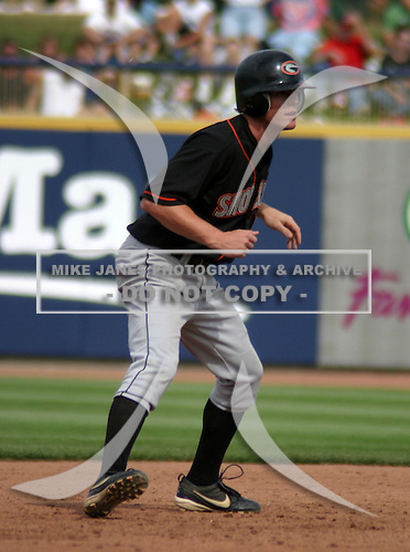 August 24, 2003:  Levi Robinson of the Delmarva Shorebirds during a game at Classic Park in Eastlake, Ohio.  Photo by:  Mike Janes/Four Seam Images