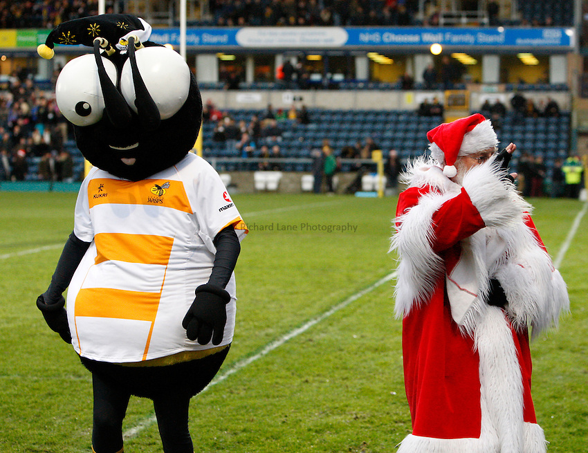 Photo: Richard Lane/Richard Lane Photography. London Wasps v Sale Sharks. 23/12/2012. Sting.