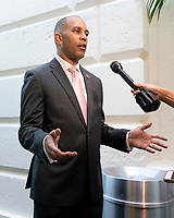 United States Representative Hakeem Jeffries (Democrat of New York) arrives to the Democratic Caucus on Capitol Hill in Washington D.C., U.S. on June 11, 2019.<br /> <br /> Credit: Stefani Reynolds / CNP/AdMedia
