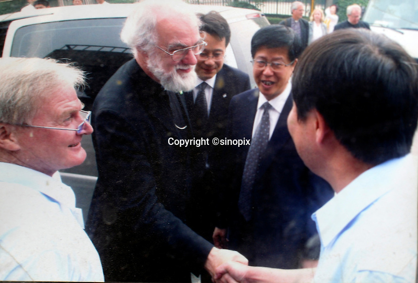 Rowan Williams, the arch bishop of Canterbury  who visited the Amity Printing Co in Nanjing Oct 2007,  which is a joint venture with the United Bible Society that produces millions of bibles annually.<br />