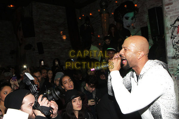 31-January-New York, NY: Recording Artist/Actor Common performs at The Tanqueray Trunk Show Event Series held at Tao Downtown Lounge on January 31, 2015 in New York City.   <br /> CAP/MPI/TJ<br /> &copy;TJ/MPI/Capital Pictures