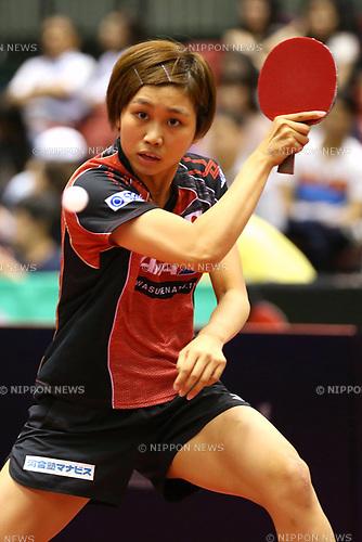 Sato Hitomi (JPN), JUNE 16, 2017 - Table Tennis : ITTF World Tour, Japan Open 2017 Women's Singles at Tokyo Metropolitan Gymnasium, Tokyo, Japan. (Photo by Sho Tamura/AFLO)