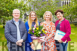 Miriam Fleming receiving the Orla Benson memorial award for Student of the Year at the St Brigid's Killarney Presentation  annual awards ceremony on Friday l-r: Aaron Benson, Miriam Fleming, Maureen Dillon and Annelie Fleming