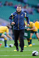 Michael Cheika, Australia Head Coach, before the Killik Cup match between Barbarians and Australia at Twickenham Stadium on Saturday 1st November 2014 (Photo by Rob Munro)
