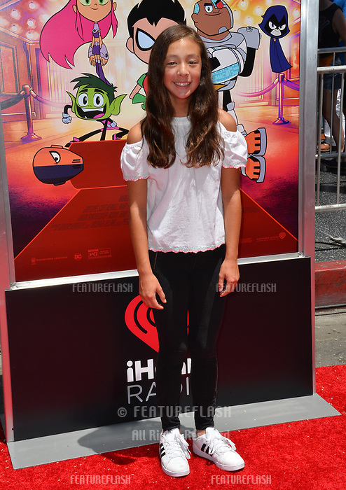 Aubrey Anderson Emmons at the premiere for &quot;Teen Titans Go! to the Movies&quot; at the TCL Chinese Theatre, Los Angeles, USA 22 July 2018<br /> Picture: Paul Smith/Featureflash/SilverHub 0208 004 5359 sales@silverhubmedia.com