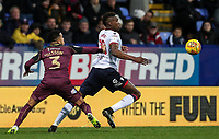 Bolton Wanderers' Sammy Ameobi competing with Swansea City's Martin Olsson<br /> <br /> Photographer Andrew Kearns/CameraSport<br /> <br /> The EFL Sky Bet Championship - Bolton Wanderers v Swansea City - Saturday 10th November 2018 - University of Bolton Stadium - Bolton<br /> <br /> World Copyright © 2018 CameraSport. All rights reserved. 43 Linden Ave. Countesthorpe. Leicester. England. LE8 5PG - Tel: +44 (0) 116 277 4147 - admin@camerasport.com - www.camerasport.com