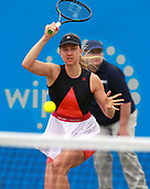 June 12th 2017,  Nottingham, England; WTA Aegon Nottingham Open Tennis Tournament day 3;  7th seed Mona Barthel of Germany against Jana Fett of Croatia who eventually beat her 6-3 5-7 7-5
