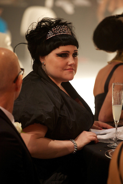 Beth Ditto wears Vivienne Westwood at Elton John's White Tie and Tiara Ball