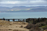 The Kells Viaduct on the Ring of Kerry where the Dublin to Cahersiveen train passed by Dingle Bay. The last train to cross the bridge was in 1960. The viaduct in on the route of the proposed 'greenway for South Kerry.<br /> Picture by Don MacMonagle.