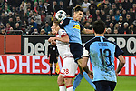15.02.2020, Merkur Spiel-Arena, Duesseldorf, GER, 1. BL, Fortuna Duesseldorf vs. Borussia Moenchengladbach, DFL regulations prohibit any use of photographs as image sequences and/or quasi-video<br /> <br /> im Bild / picture shows: Kopfball / Kopfballduell Rouwen Hennings (#28, Fortuna Duesseldorf) Jonas Hofmann (#23, Borussia Moenchengladbach) <br /> <br /> Foto © nordphoto/Mauelshagen