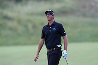 Nicolas Colsaerts (BEL) on the 9th during Round 2 of the KLM Open at Kennemer Golf &amp; Country Club on Friday 12th September 2014.<br /> Picture:  Thos Caffrey / www.golffile.ie