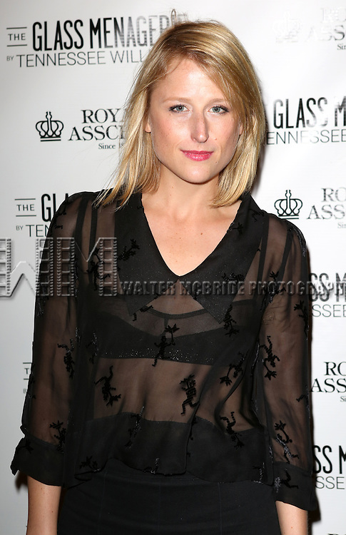 Mamie Gummer attends the Broadway Opening Night Performance of 'The Glass Menagerie' at the Booth Theatre in New York City on September 16, 2013.
