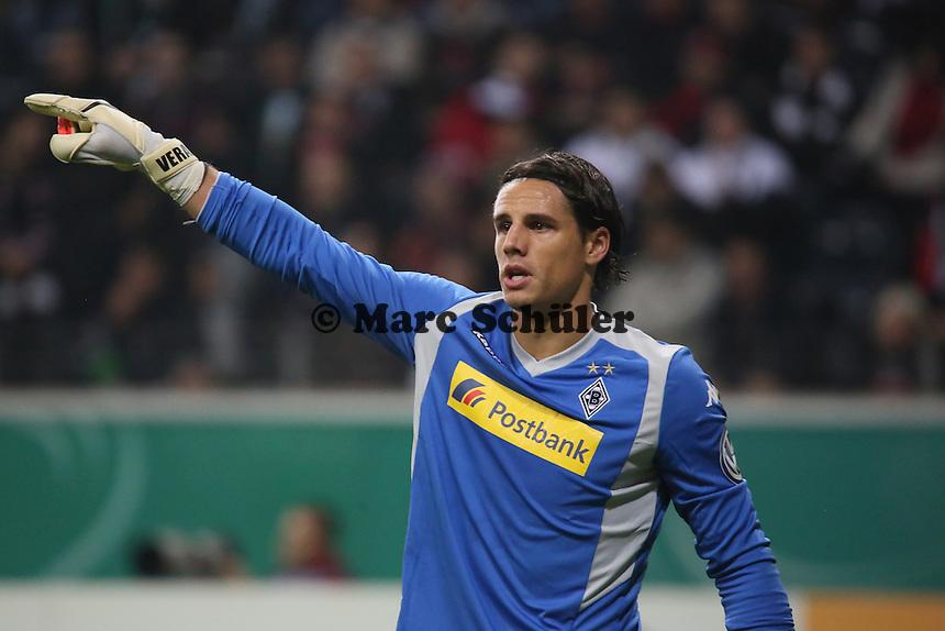 Yann Sommer (Gladbach) - Eintracht Frankfurt vs. Borussia Mönchengladbach, DFB-Pokal 2. Runde, Commerzbank Arena