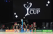 5th October 2017, Spark Arena, Auckland, New Zealand; Constellation Cup, New Zealand Silver Ferns versus Australia Diamonds;   General view as the NZ team warm up
