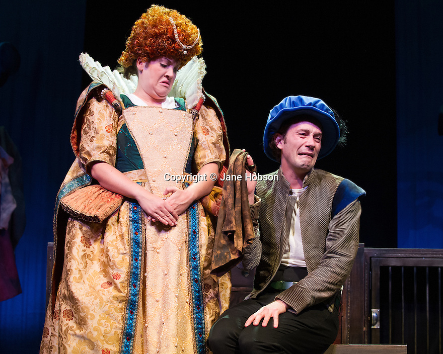 London, UK. 10.10.2013. Birmingham Stage Company presents, as part of the Horrible Histories series of stage shows, Barmy Britain Part II, at the Garrick Theatre, from September 26th 2013 to January 5th 2014. Cast is: Lauryn Redding and Anthony Spargo. Photograph © Jane Hobson.