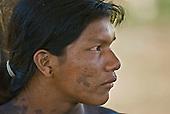 Pará State, Brazil. Aldeia Pukararankre (Kayapo). Young warrior.