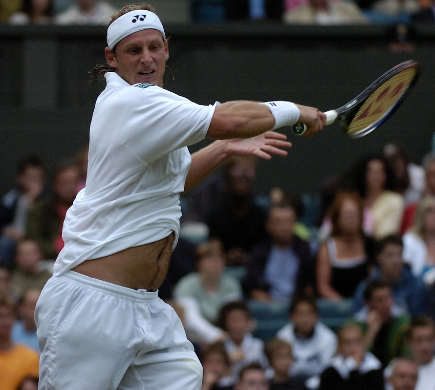 Photo. Jed Wee..Wimbledon Championships. 25/06/2005..David Nalbandian.