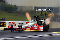 May 20, 2016; Topeka, KS, USA; NHRA top fuel driver Doug Kalitta during qualifying for the Kansas Nationals at Heartland Park Topeka. Mandatory Credit: Mark J. Rebilas-USA TODAY Sports