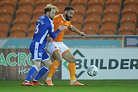 Blackpool's Liam Feeney under pressure from Gillingham's Connor Ogilvie<br /> <br /> Photographer Kevin Barnes/CameraSport<br /> <br /> The EFL Sky Bet League One - Blackpool v Gillingham - Tuesday 11th February 2020 - Bloomfield Road - Blackpool<br /> <br /> World Copyright © 2020 CameraSport. All rights reserved. 43 Linden Ave. Countesthorpe. Leicester. England. LE8 5PG - Tel: +44 (0) 116 277 4147 - admin@camerasport.com - www.camerasport.com