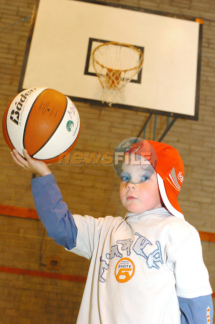 Ryan Coleman playing basketball during the half Time at teh Drogheda Concentrates Pre Season basketball tournament in Greenhill over the Weekend..Photo Fran Caffrey Newsfile.ie..This Picture has been sent to you by Newsfile Ltd..The Studio,.Millmount Abbey,.Drogheda,.Co. Meath,.Ireland..Tel: +353(0)41-9871240.Fax: +353(0)41-9871260.ISDN: +353(0)41-9871010.www.newsfile.ie..general email: pictures@newsfile.ie
