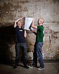 le 31 mai 2014,Fabrice et Anthony de la brasserie du grand Paris.  portraits de brasseurs présent à la Première édition de la Paris Beer week.