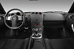 Straight dashboard view of a 2008 Nissan 350z.