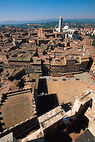 Italien, Toskana, Siena, Blick vom Torre del Mangia, Unesco-Weltkuturerbe